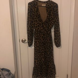 Michael kors cheetah wrap dress